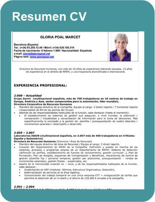 Gloria Poal Curriculum Vitae